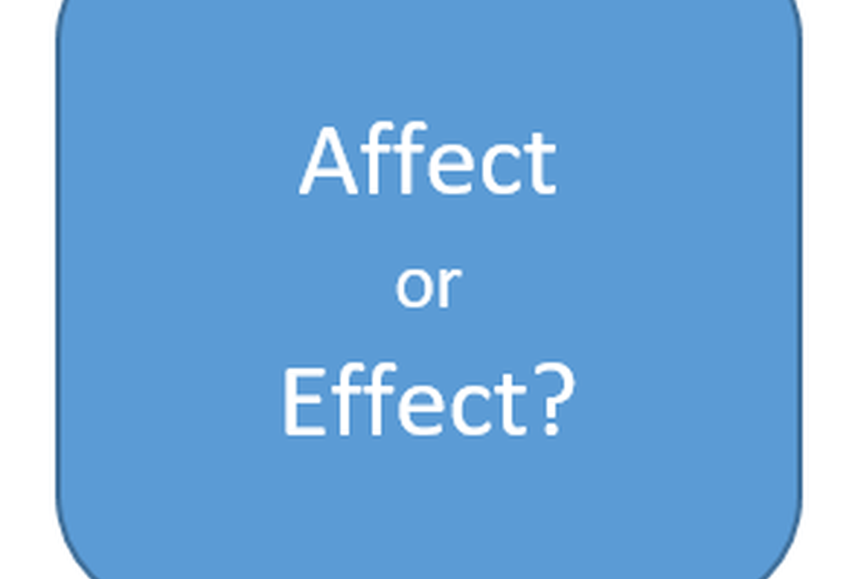 "What's the difference between ""affect"" and ""effect"" and when should they be used?"